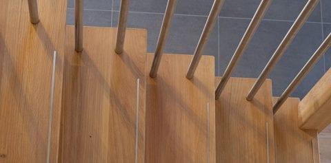 Trap van hout