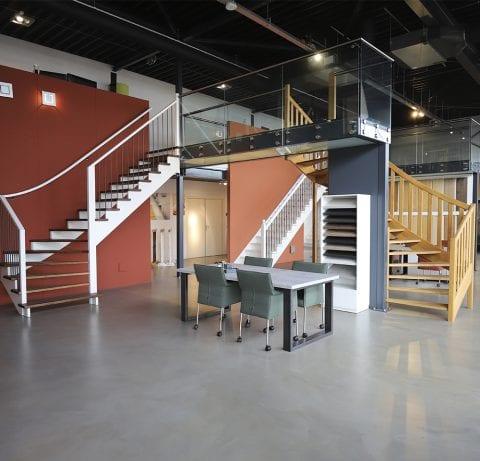 De Vries Trappen showroom Heerenveen